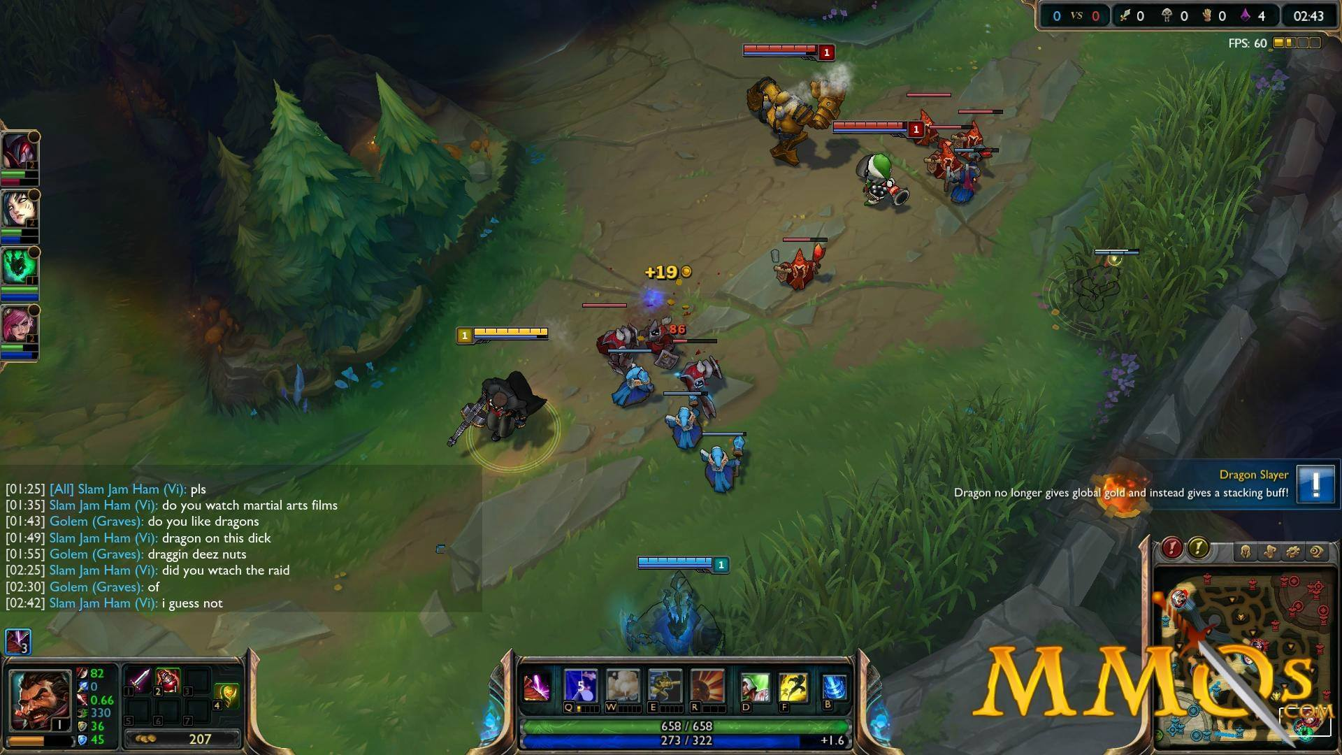 League of Legends, defence and offence