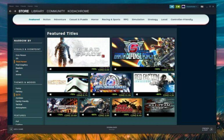 Steam implements new 'Faceted Browsing'