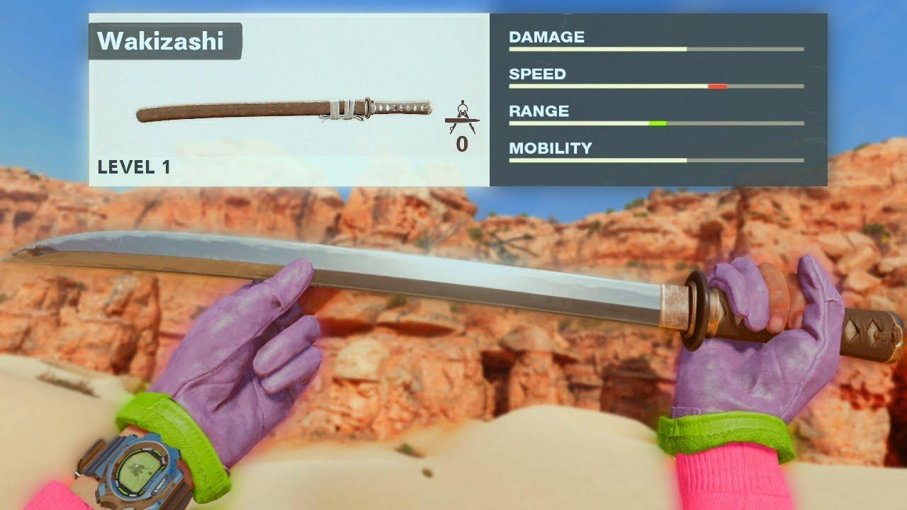 CoD Black Ops Wakizashi sword