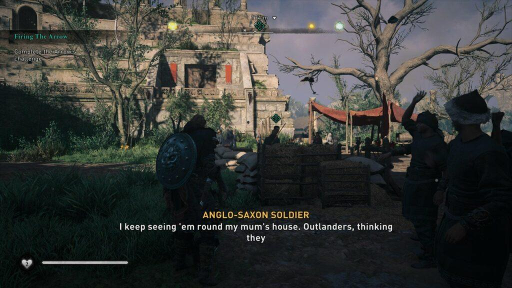 Assassin's Creed Valhalla Firing the Arrow Quest