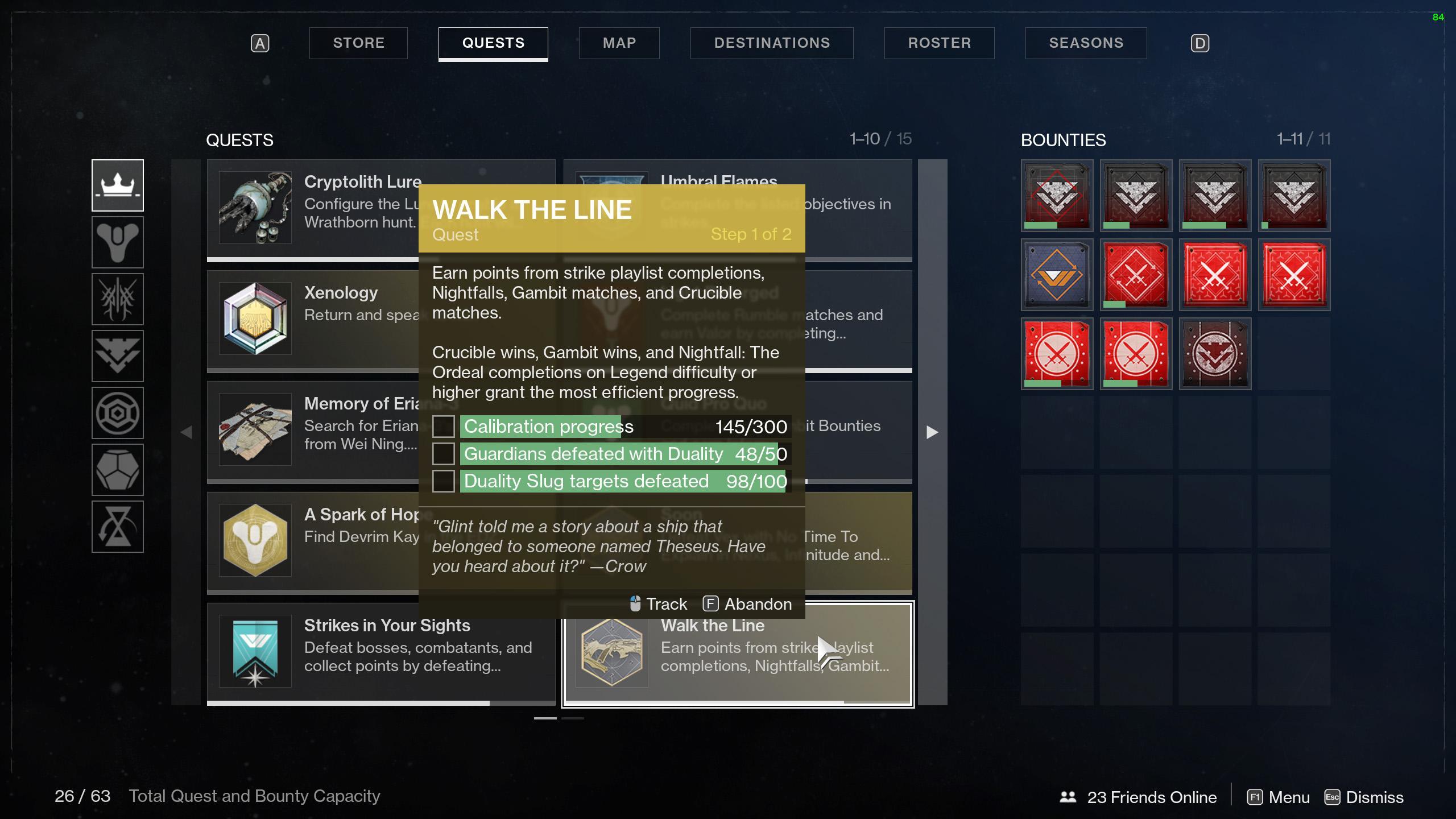 Destiny 2 Walk the Line