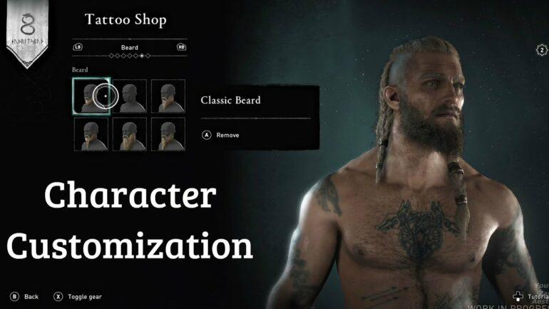 Assassins creed Valhalla Customize Character