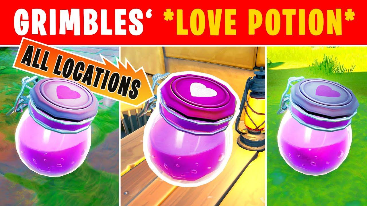 Fortnite How to Get Grimble's Love Potions
