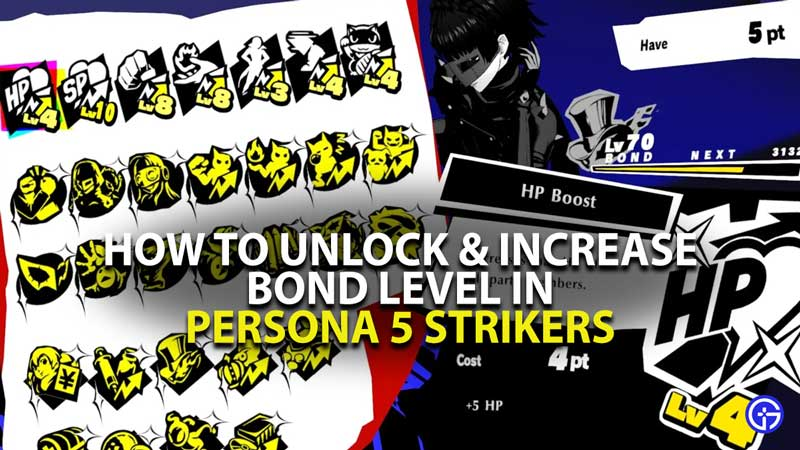 Persona 5 Strikers how to raise bond level