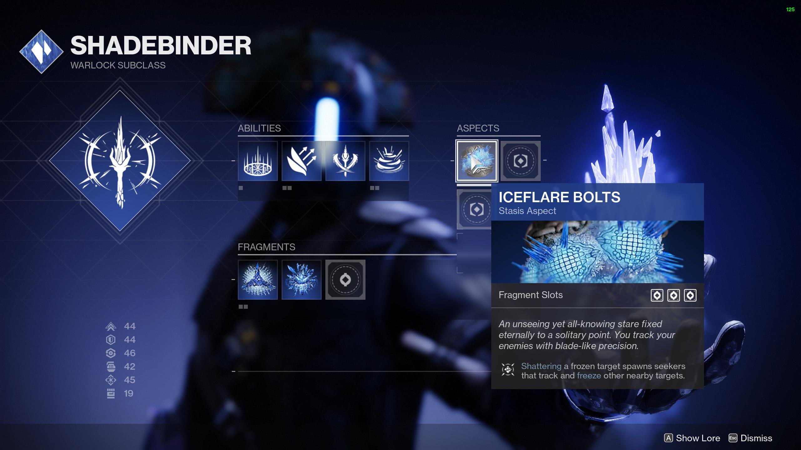Destiny 2 Statis Aspects