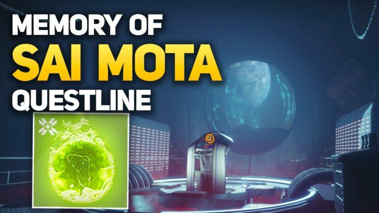 Destiny 2 Sai Mota Quest