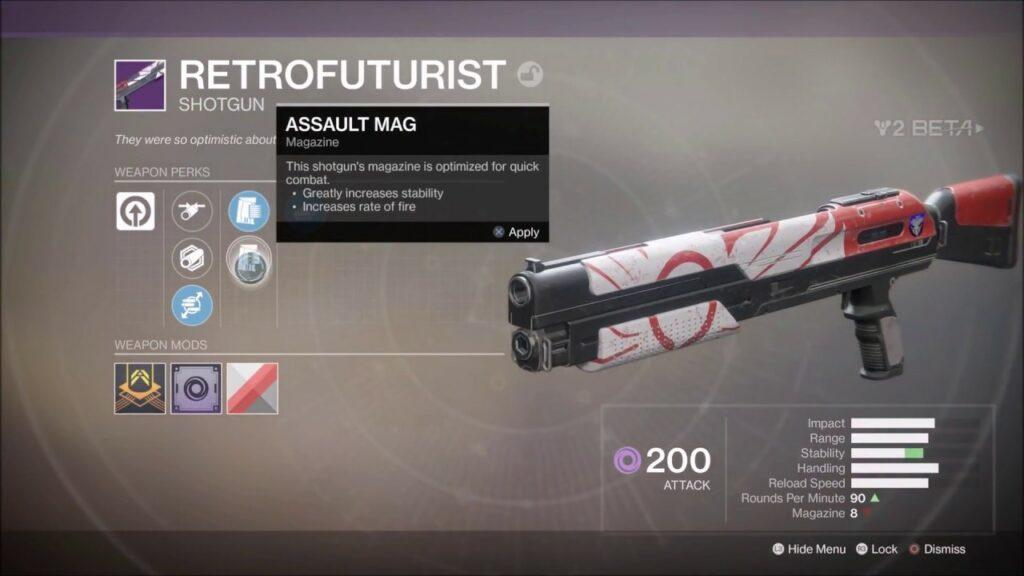 Destiny 2 Retrofuturist Shotgun