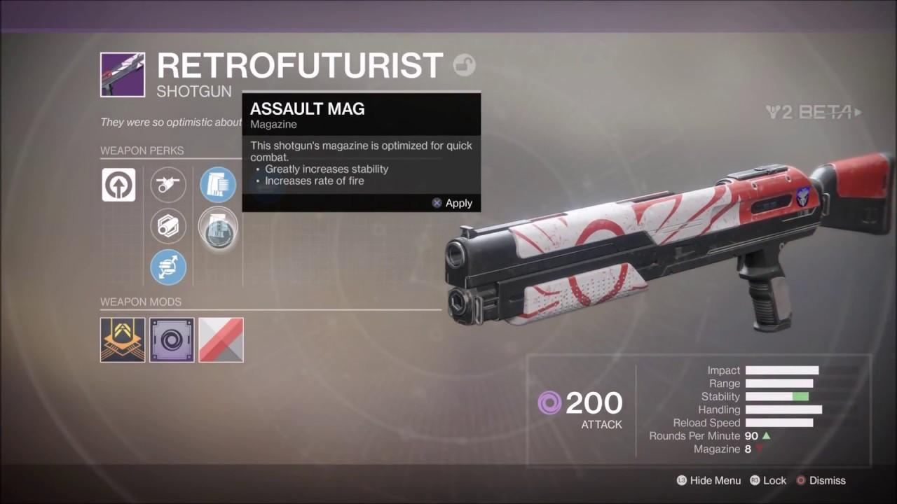 Destiny 2 Retrofuturist Shotgun