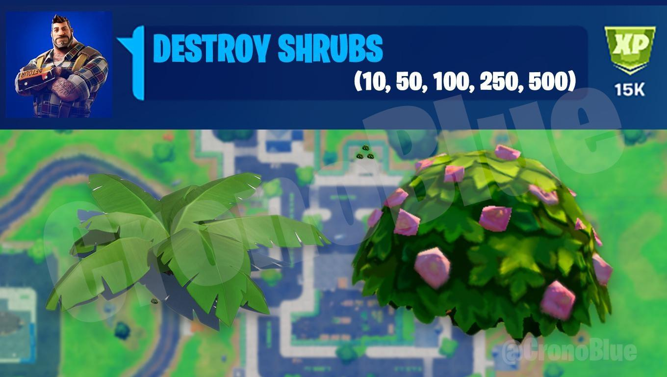 Fortnite Destroy Shrubs