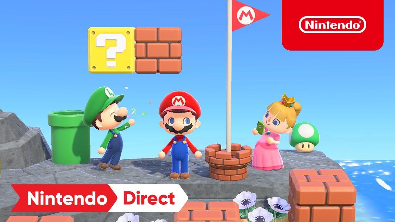 Prerequisite to get Mario items in New Horizons