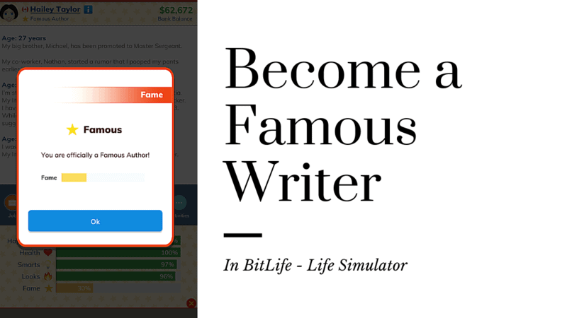 BitLife Guide for Famous Writer