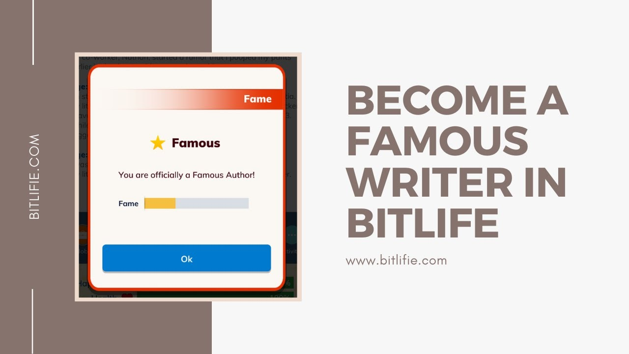 Famous Writer Guide in BitLife