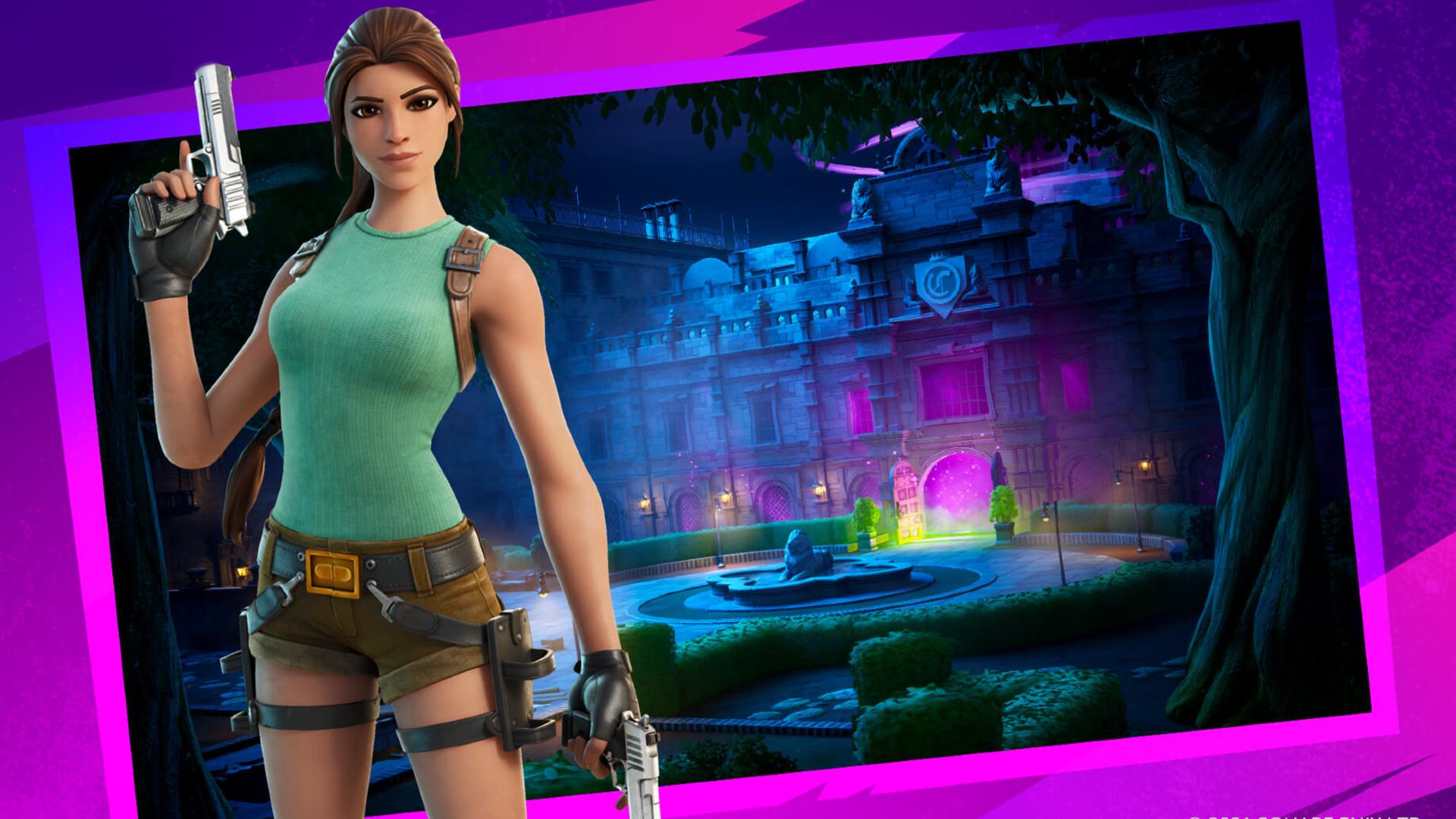 Fortnite Tomb Raider Croft Manor Level
