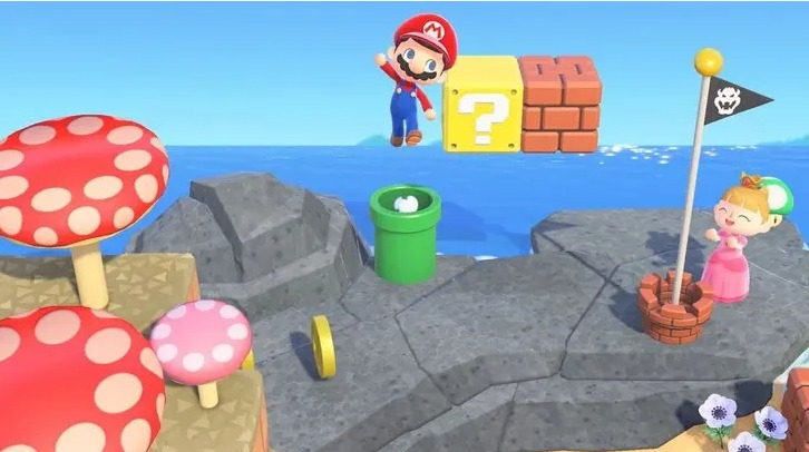 How to get Mario items in New Horizon