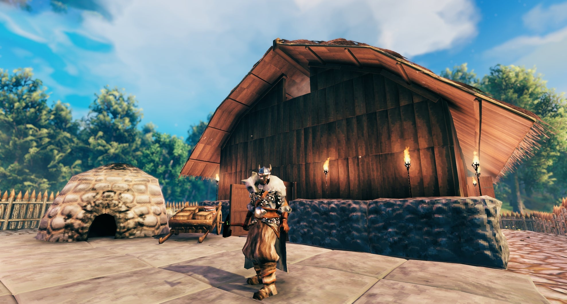 how to build stone building in valheim