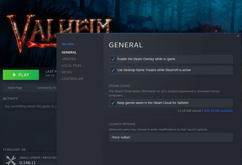 How to play using Vulkan in Valheim