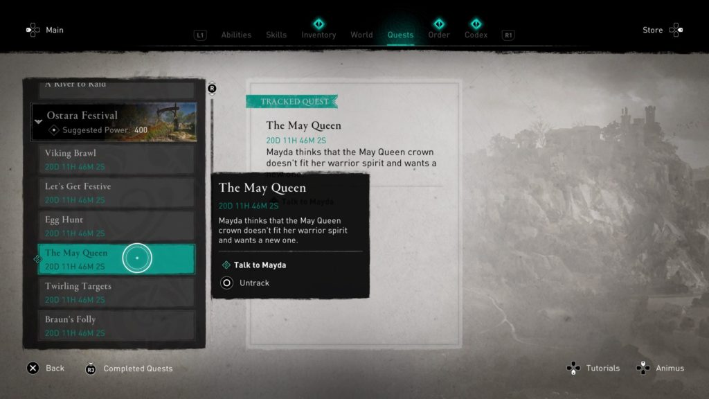 AC Valhalla May Queen Quest