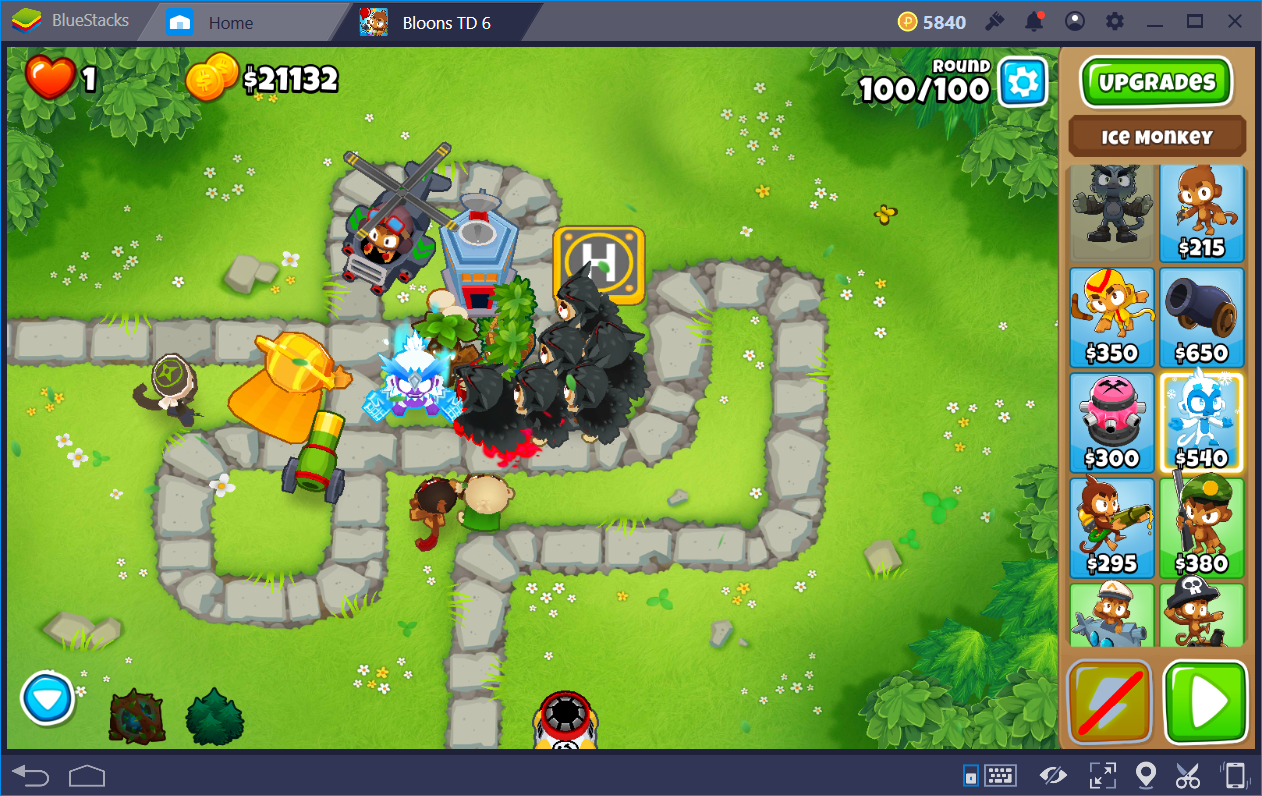 Chimps mode in Bloons TD6