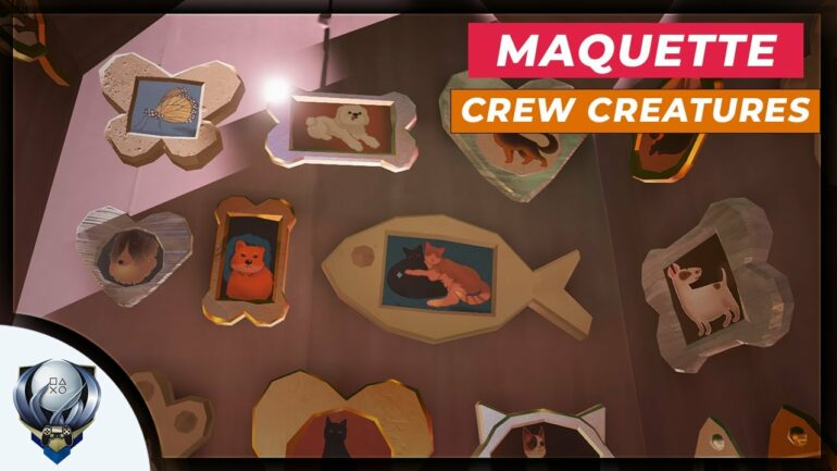 Maquette Crew Creature Trophy