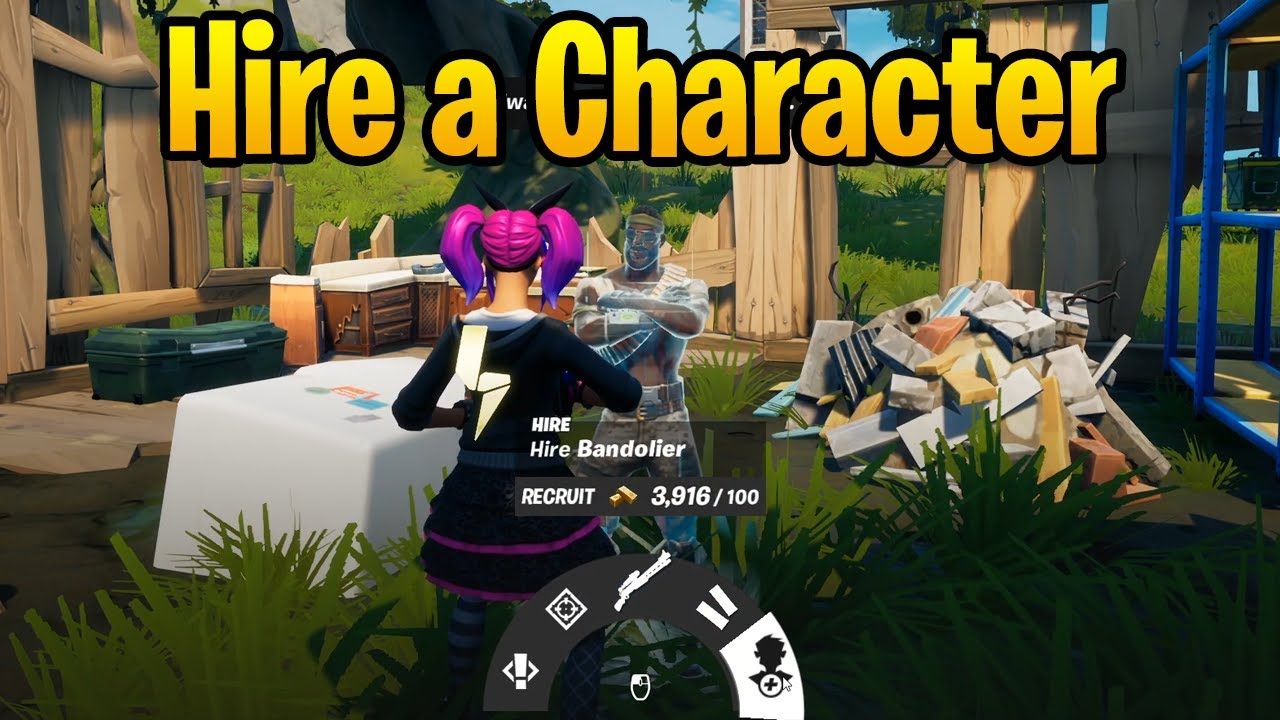 Hire a Character in Fortnite