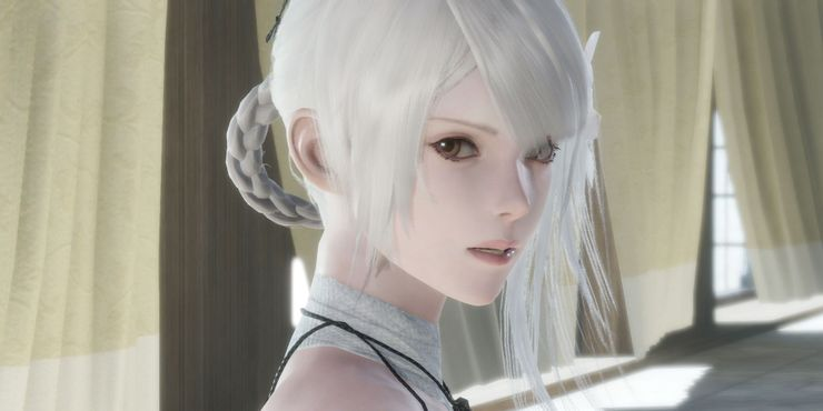 Confronting Kaine in Nier Replicant Remaster