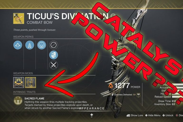 Destiny 2 Ticuu's Divination and Catalyst