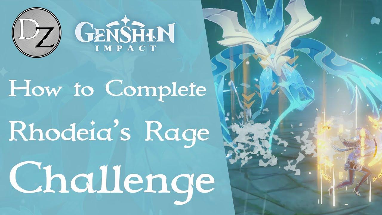 Genshin Impact Rhodeia Rage Challenge