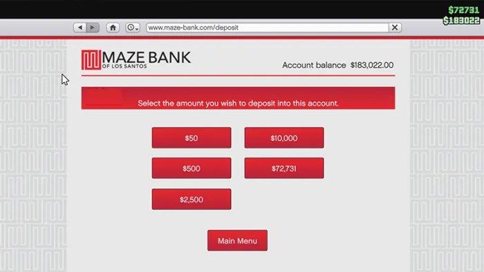 How to Deposit Money in GTA Online Maze Bank 1