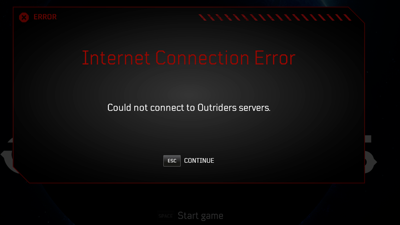 Check server status in outriders