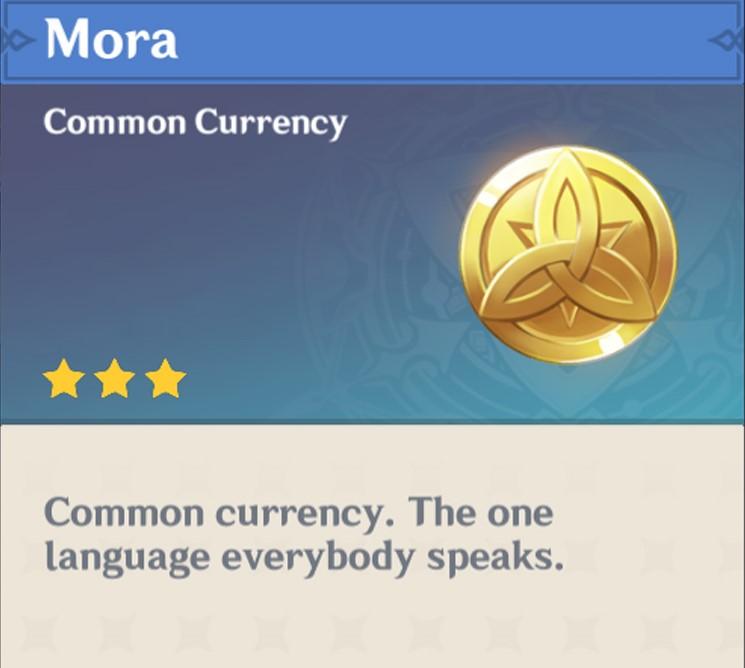 How to get Mora in Genshin Impact 1
