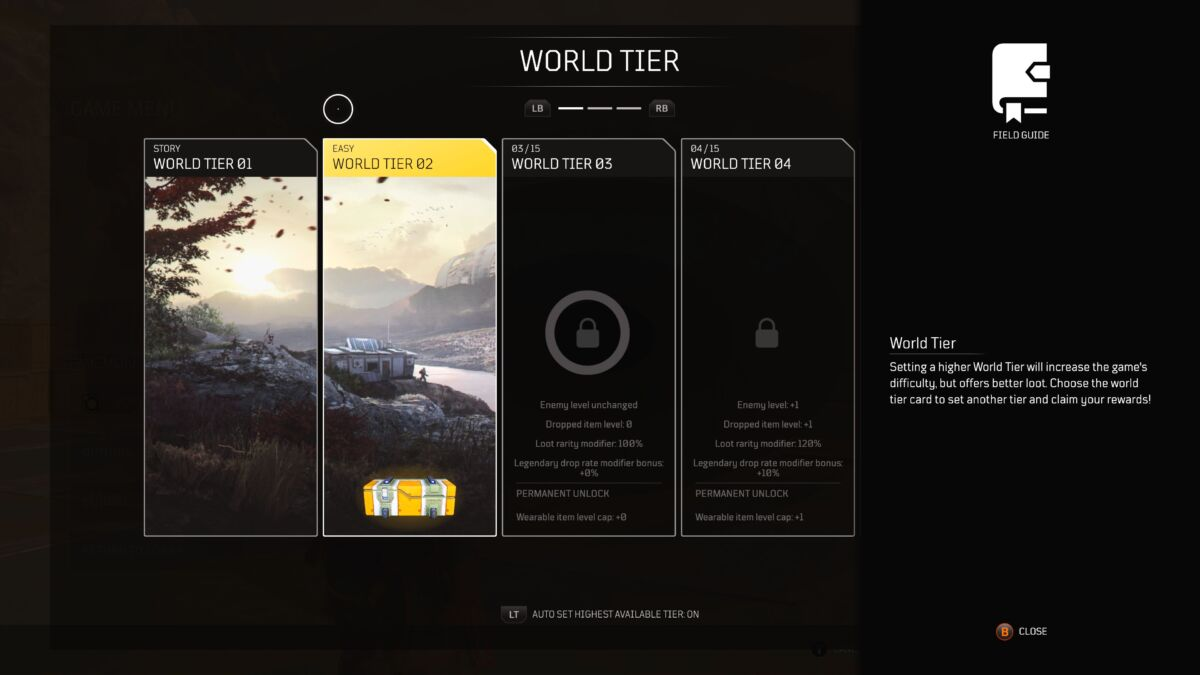 How to increase world Tier in Outriders