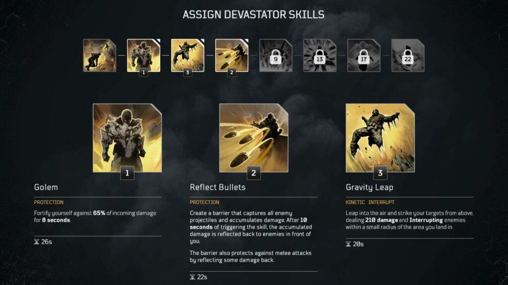 outriders devastator skills