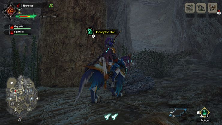 Monster Hunter Rise Guide to find Rhenoplos Eggs