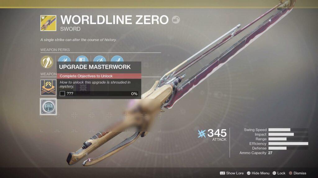 Destiny 2 Worldline Zero Catalyst