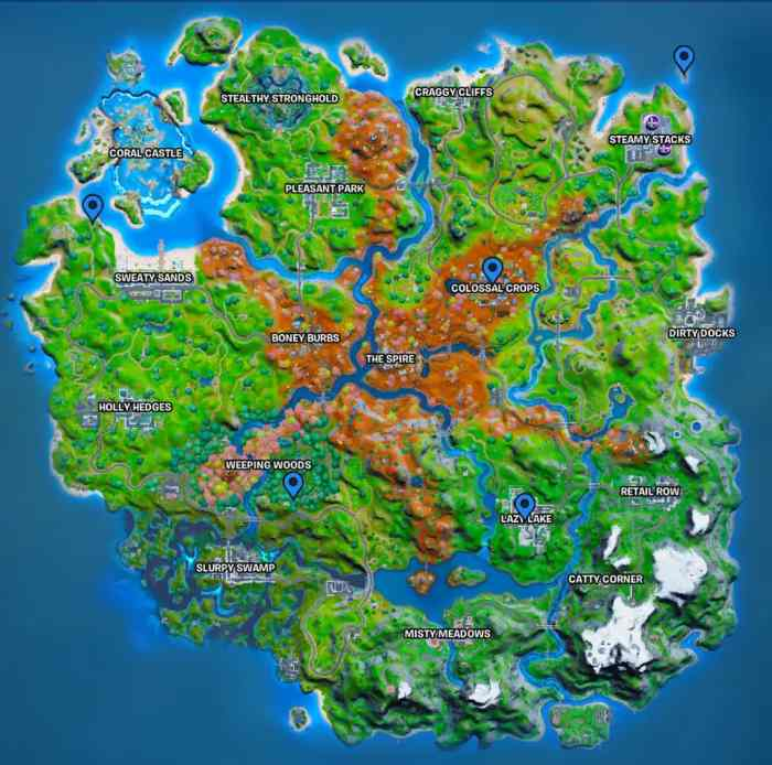 Characters who sell Rifts in Fortnite Map