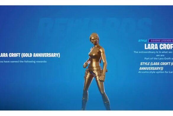 How to get the Gold Lara Croft Skin in Fortnite 1