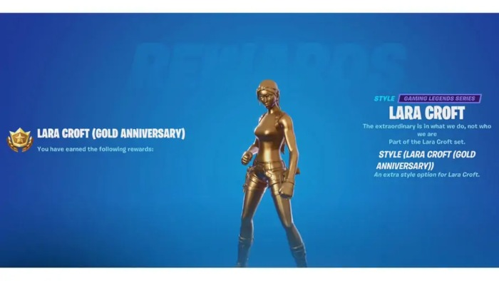 How to get the Gold Lara Croft Skin in Fortnite 1
