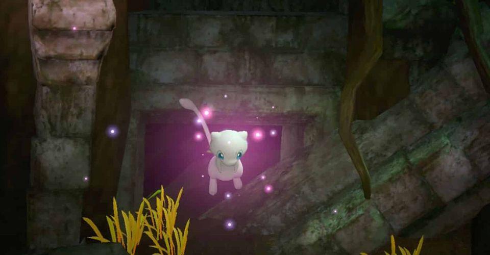 Pokemon Snap Mew floating