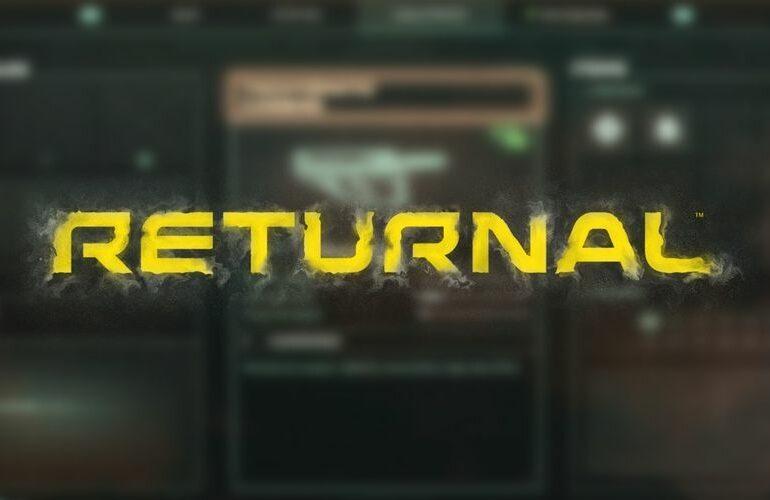 Returnal Inventory Screen Title