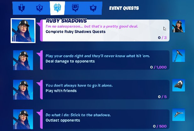 Street Shadows Challenge Pack in Fortnite