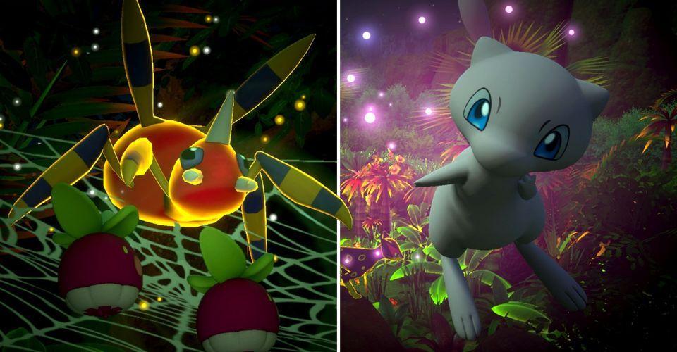 new-pokemon-snap-ariados-mew-founja-jungle-night
