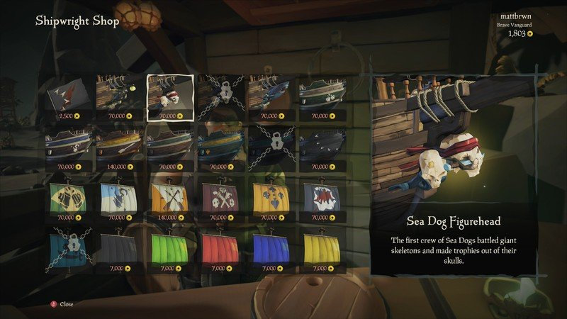 Sea of Thieves Customize Ship