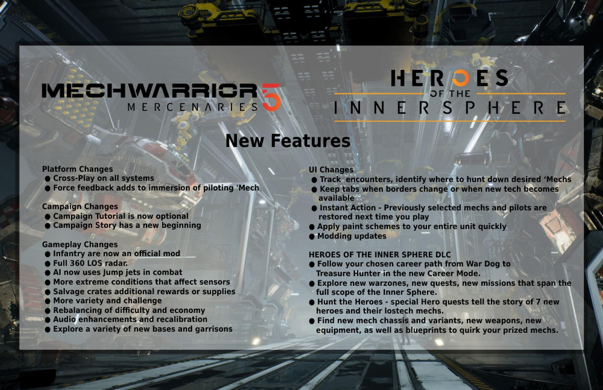 All about MechWarrior 5 Mercenaries Crossplay