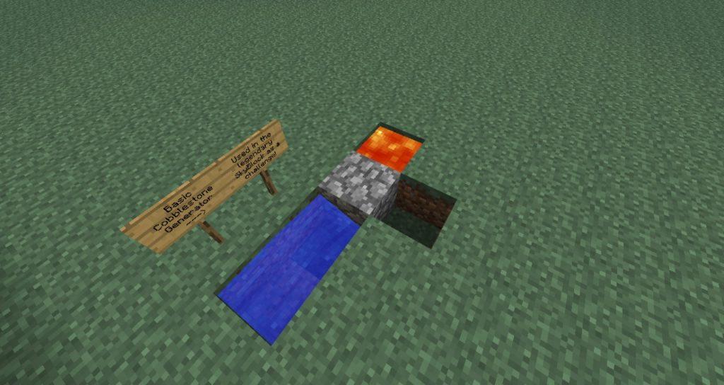 Minecraft Cobblestone Generator