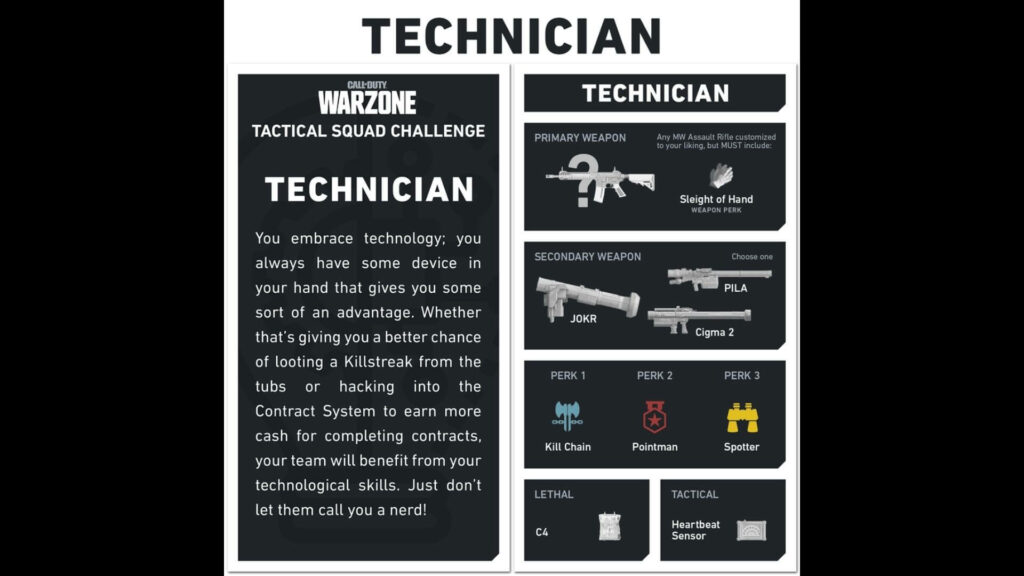 COD Warzone Loadout Cards Challenge